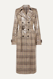 MUNTHE Handsome checked vinyl trench coat