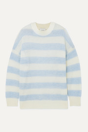 MUNTHE Henrik oversized striped knitted sweater