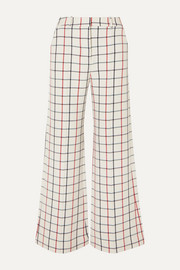 MUNTHE Hilarious checked twill wide-leg pants