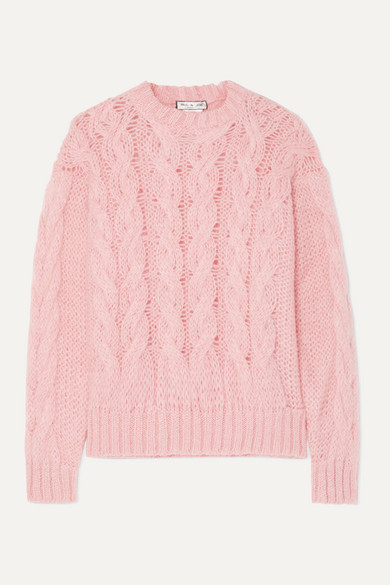 Cable Knit Mohair Blend Sweater by Paul & Joe