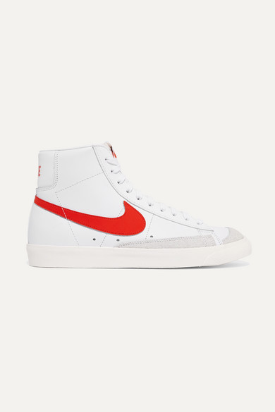 c56977ae Nike | Blazer Mid 77 Vintage suede-trimmed leather high-top sneakers ...