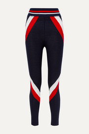 Voss paneled stretch-merino wool leggings