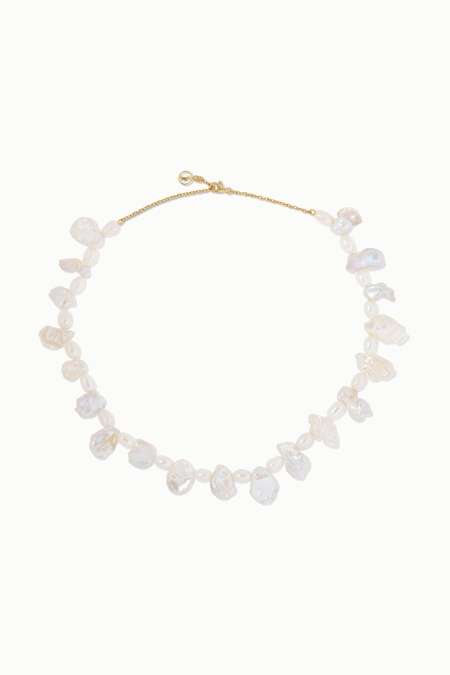 Anissa Kermiche Gold-plated pearl necklace