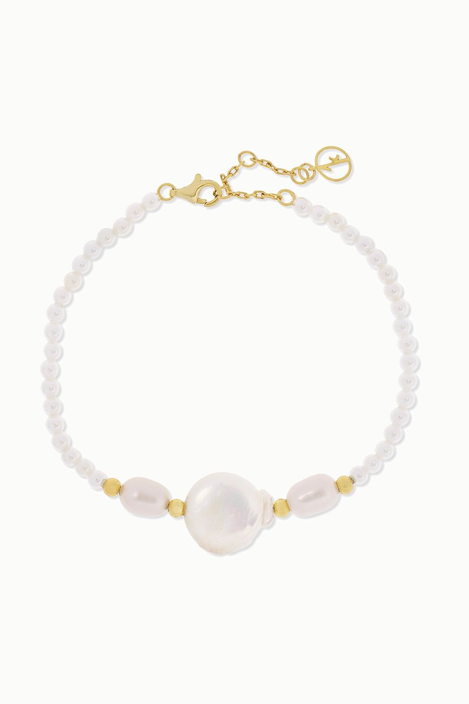 Anissa Kermiche Gold-plated pearl bracelet