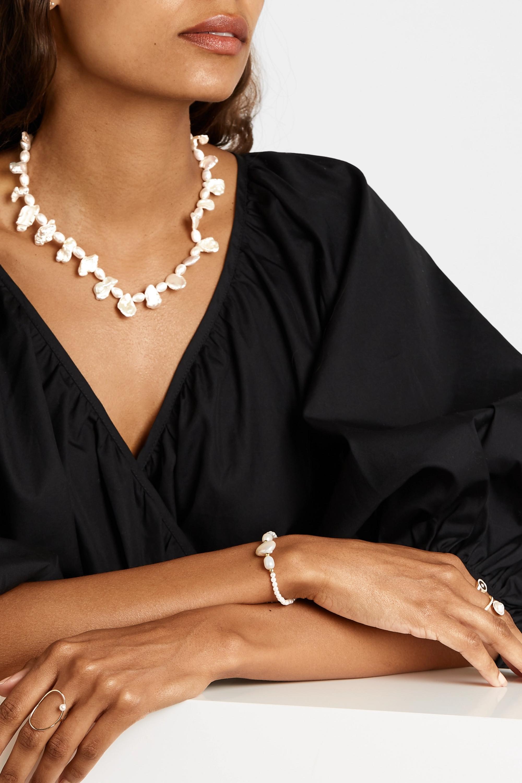 Anissa Kermiche Gold-plated pearl bracelet