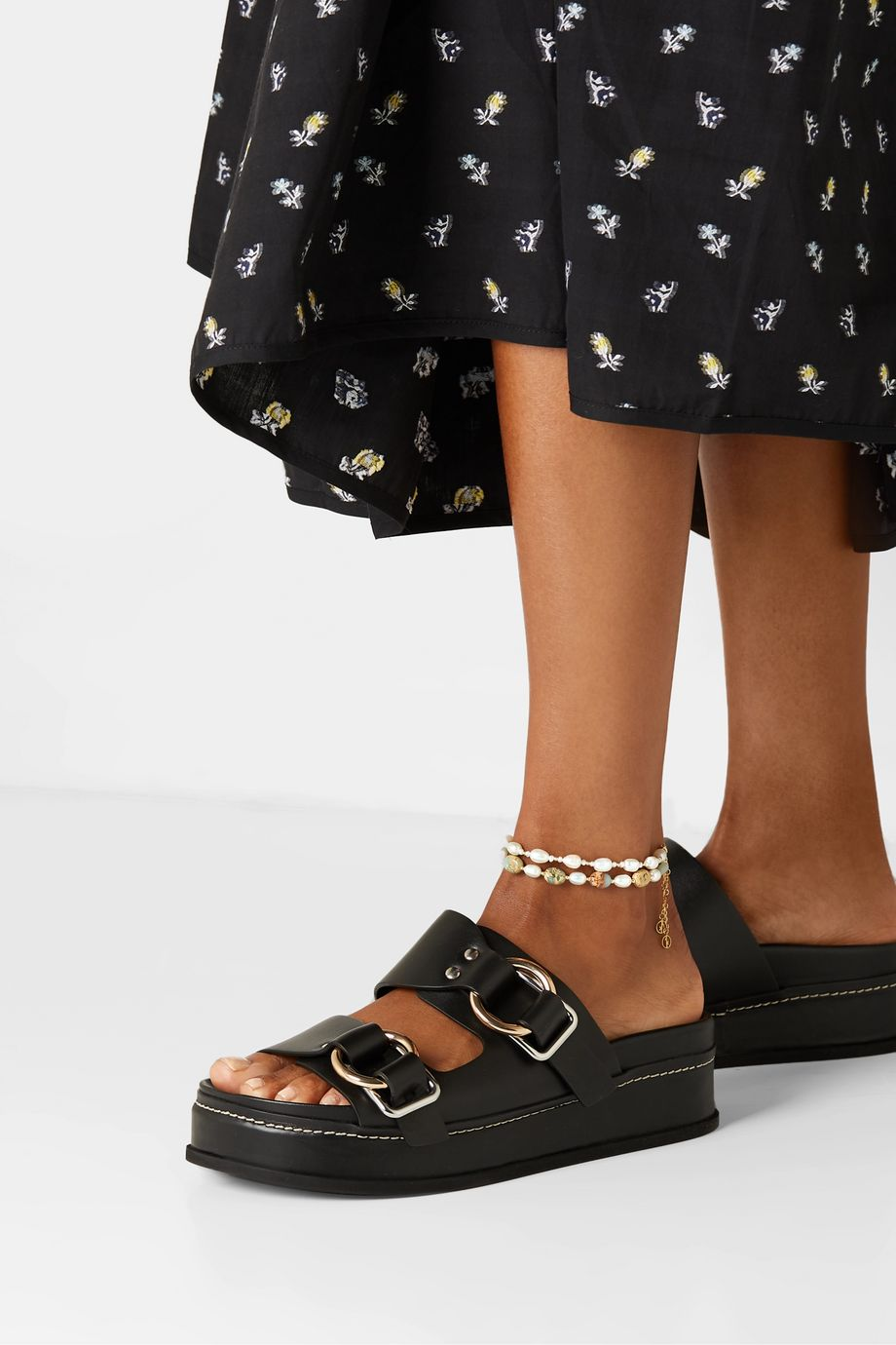 Anissa Kermiche Gold-plated pearl anklet