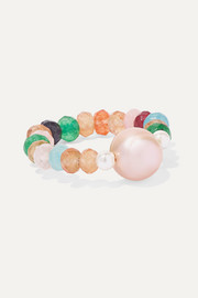 Couleur Caviar pearl and agate ring