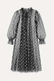 Sort glittered stretch-tulle robe