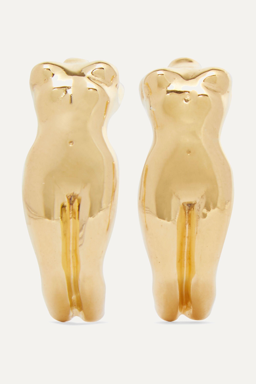 Paola Vilas Eva gold-plated earrings
