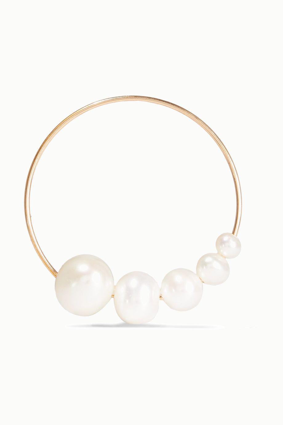 unknown Creolen aus Gold mit Perlen