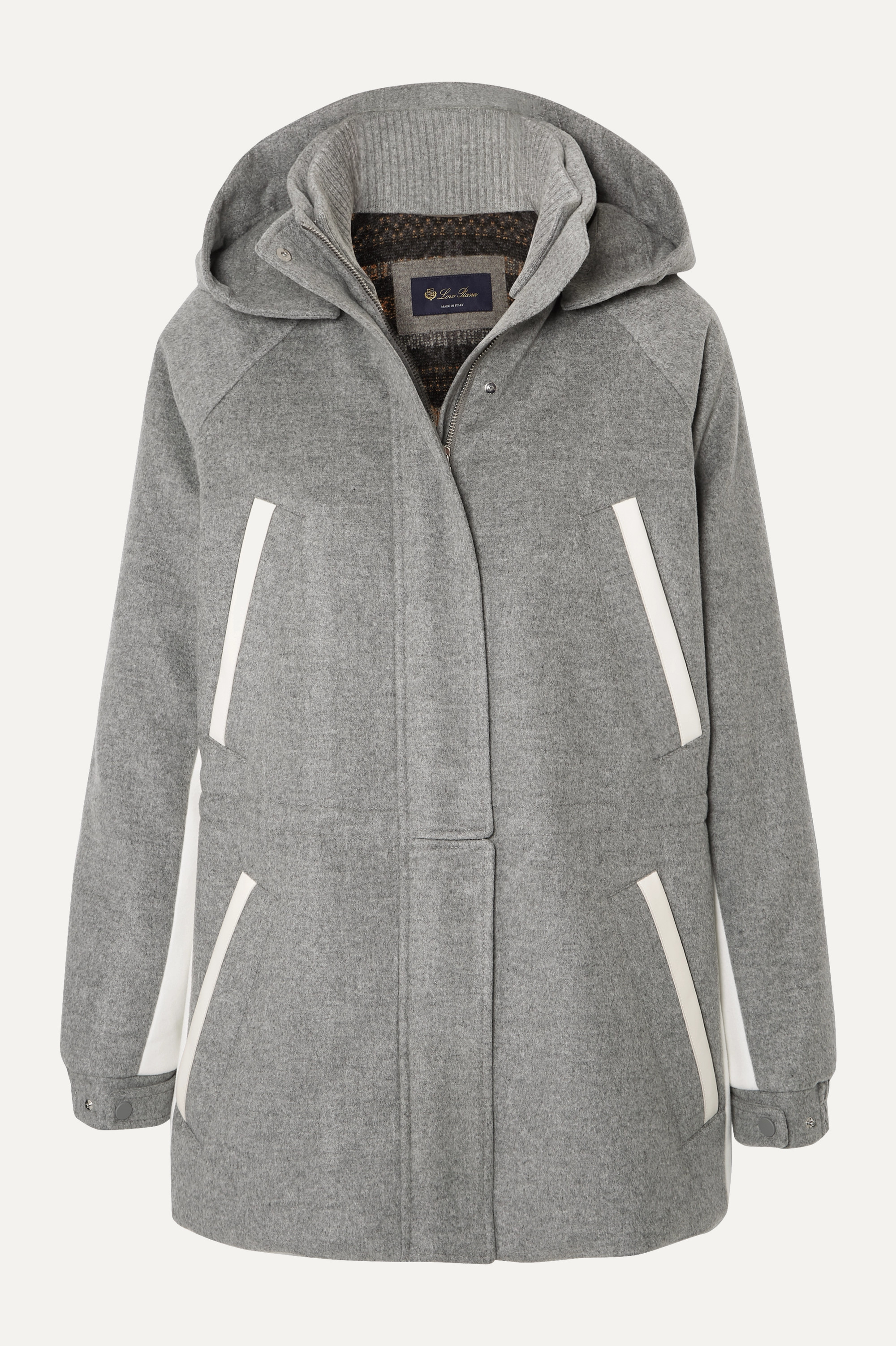 Loro Piana Hooded leather-trimmed cashmere parka