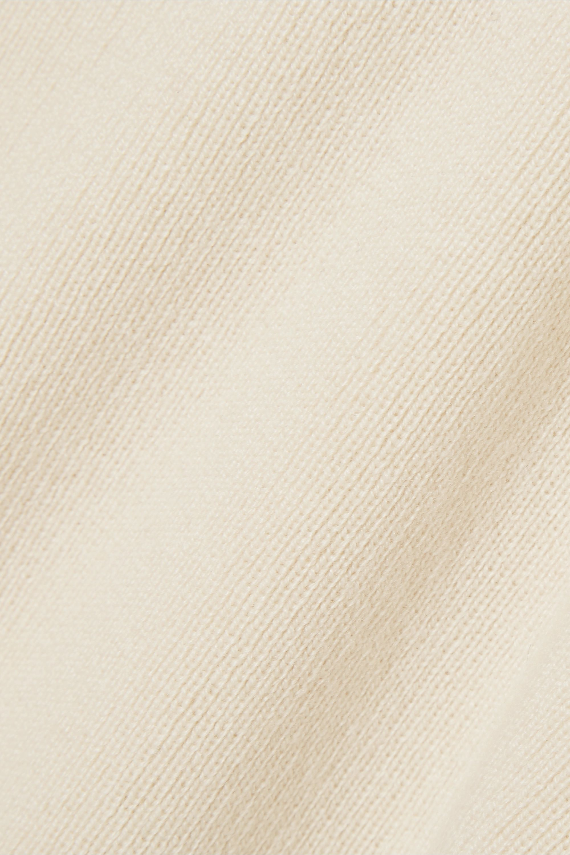 Loro Piana Pointelle-detailed cashmere turtleneck sweater