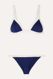 Medina Swimwear Sunkiss two-tone terry-trimmed bikini