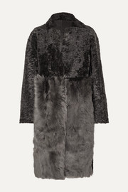Karl Donoghue Paneled shearling coat