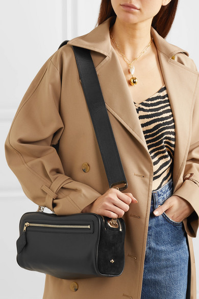 Melbourne Leather And Suede Shoulder Bag by Zoobeetle Paris