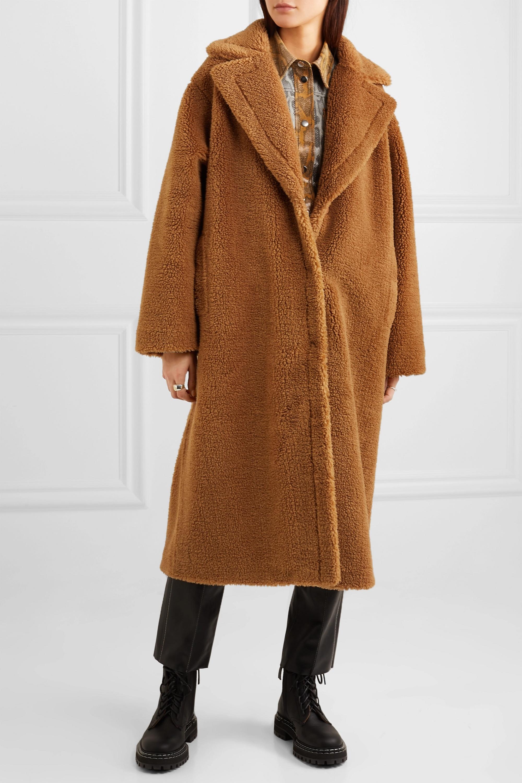 Stand Studio Manteau oversize en peau lainée synthétique Maria Cocoon