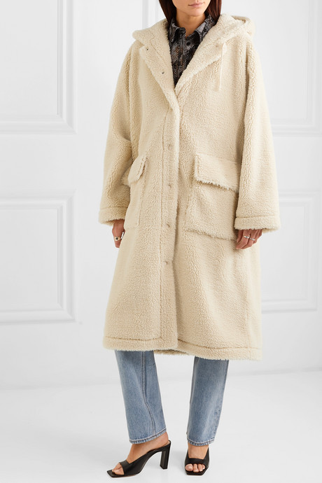 Jessica oversized faux shearling coat