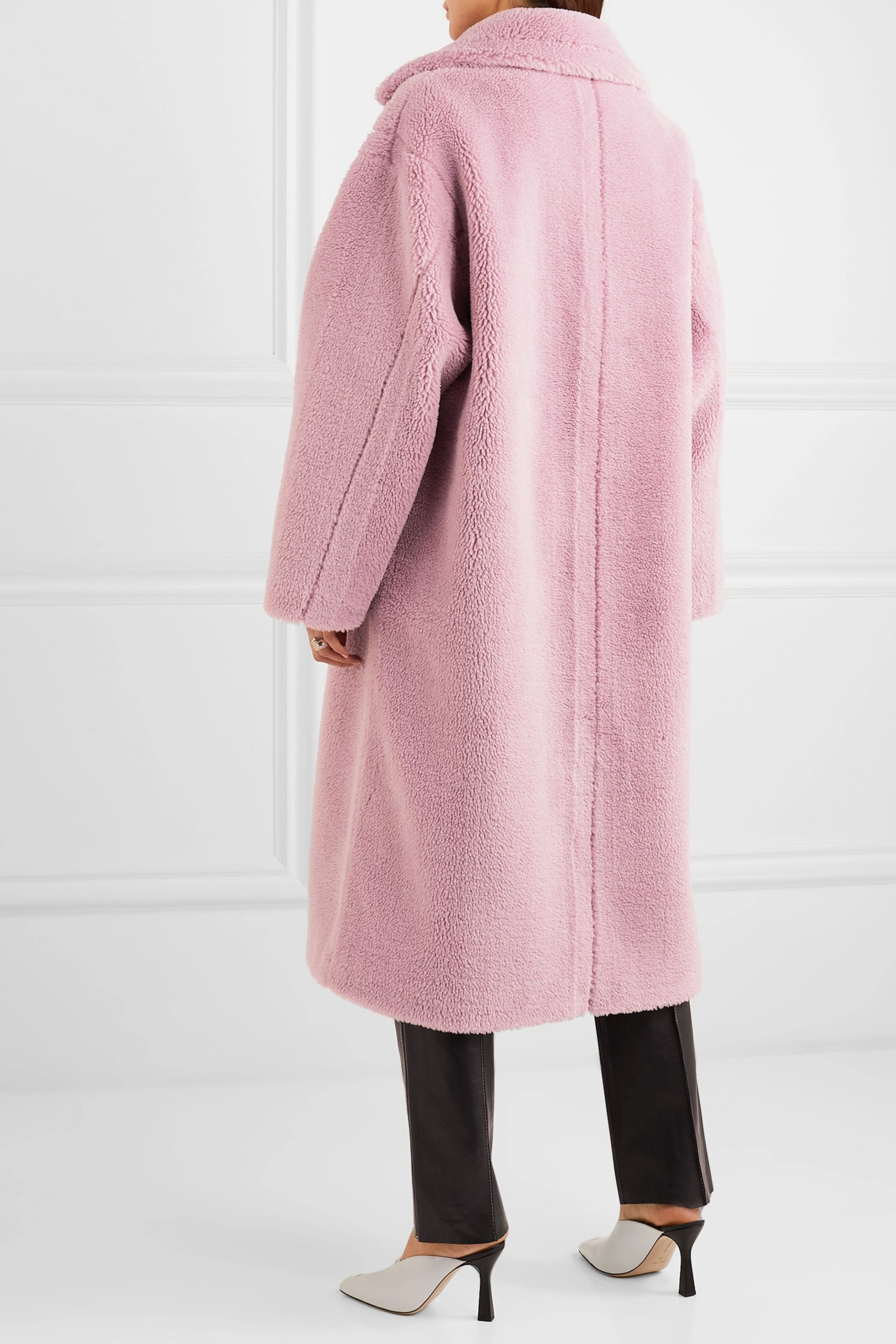 Stand Studio Maria Cocoon oversized faux shearling coat