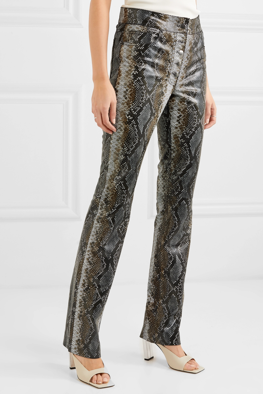 Stand Studio Rina snake-effect leather slim-leg pants