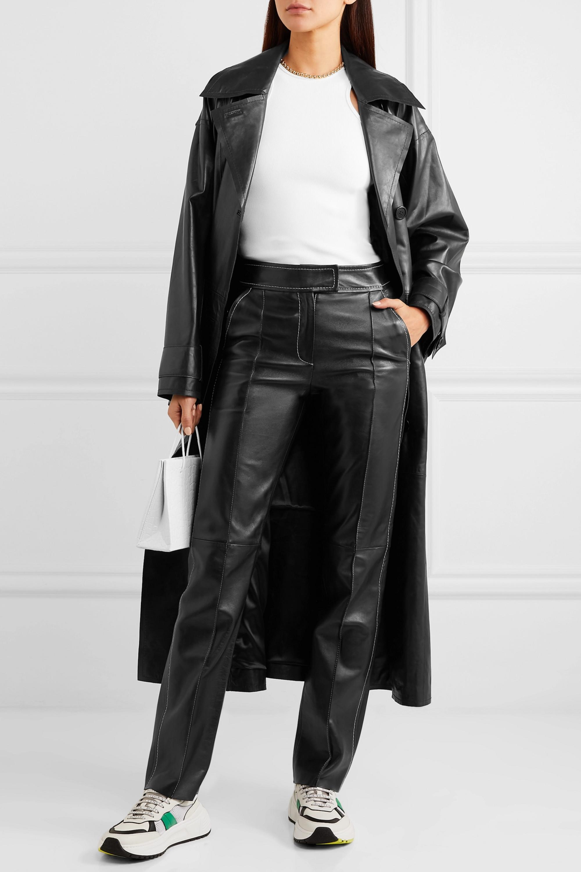 Stand Studio Rivka Hose mit geradem Bein aus Leder