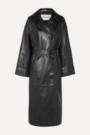 Eliora leather trench coat