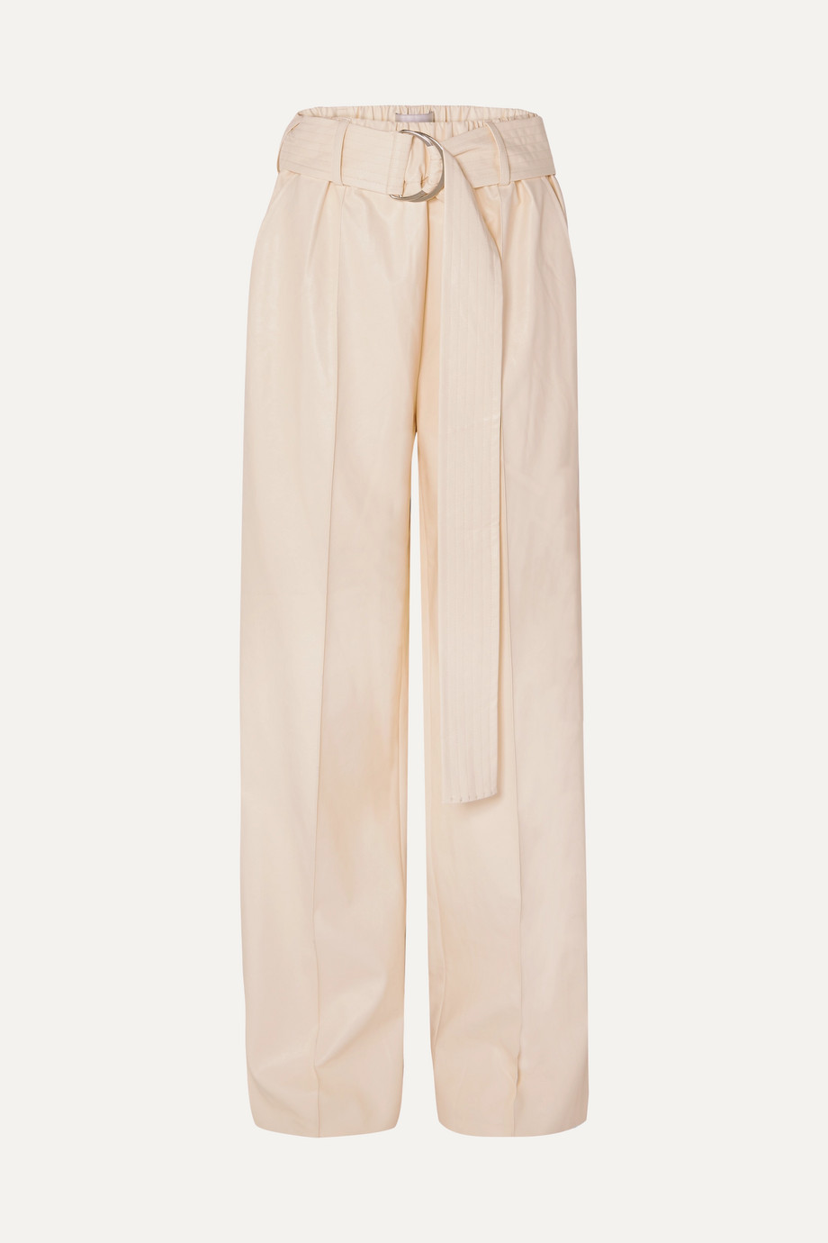 Stand Studio Alaina belted faux leather wide-leg pants