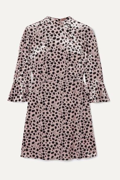 Ashley Leopard Print Velvet Mini Dress by Hvn