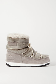 + Moon Boot shearling and suede snow boots
