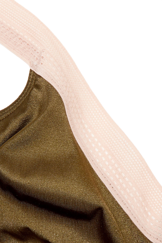 Hanro Soutien-gorge à bonnets souples et à armatures en satin et en dentelle Nori