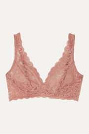 Moments stretch-lace soft-cup triangle bra