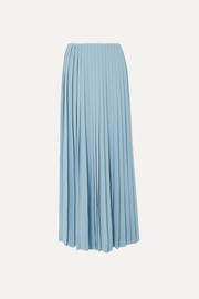 The Row Tulu pleated silk crepe de chine maxi skirt