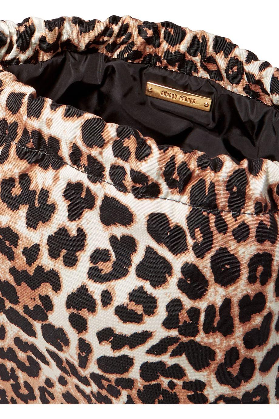 Miu Miu Leopard-print canvas pouch