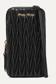 Miu Miu Matelassé leather pouch