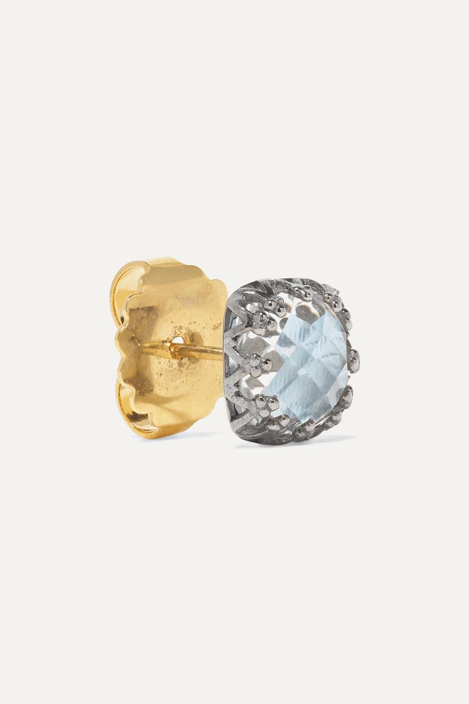 Larkspur & Hawk Jane small rhodium-dipped quartz earrings