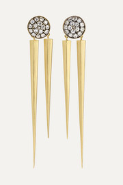 Sylva & Cie 18-karat gold diamond earrings