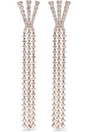 Boucles d'oreilles en or rose 18 carats et diamants Aria Fan