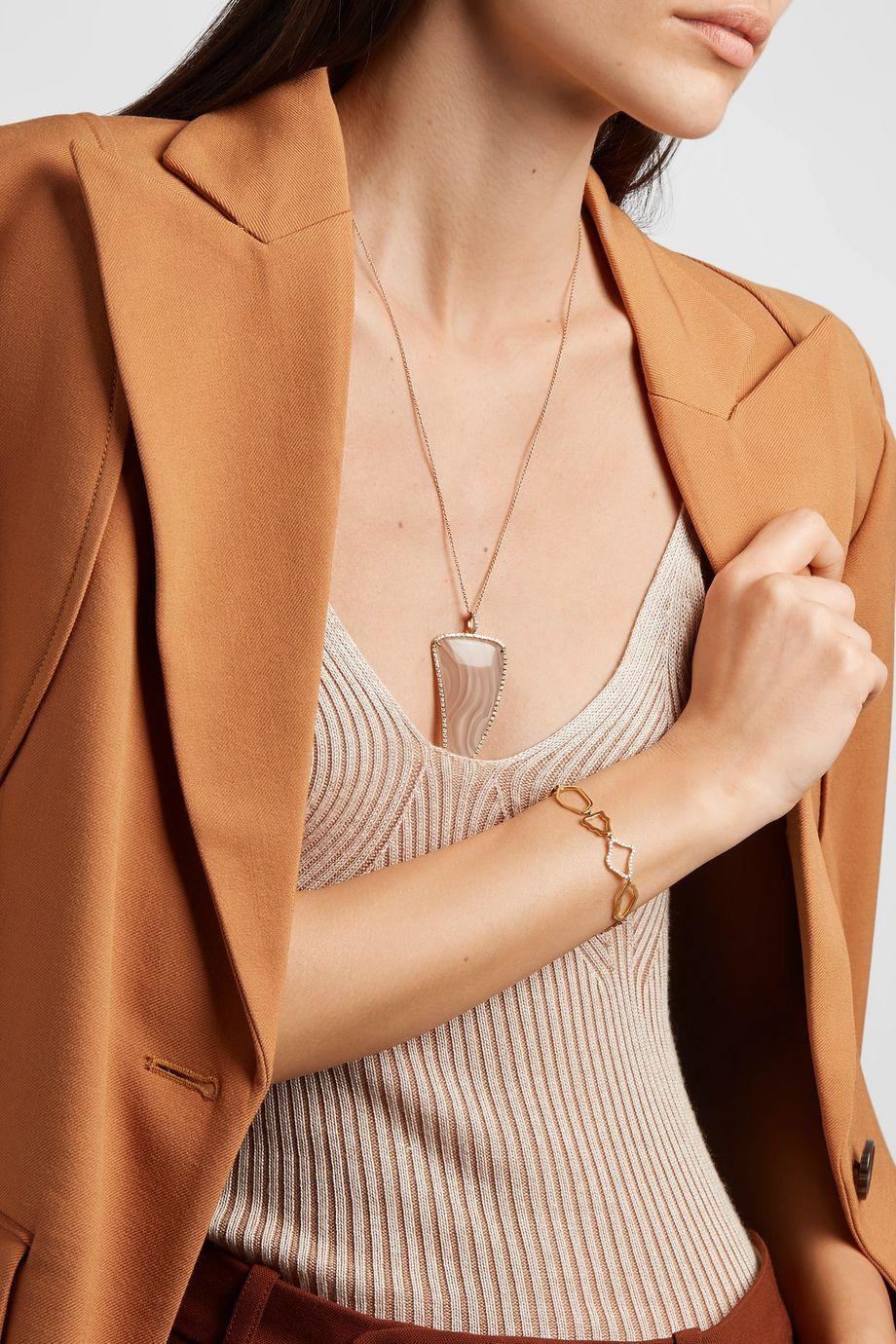 Kimberly McDonald + NET SUSTAIN 18-karat gold diamond bracelet