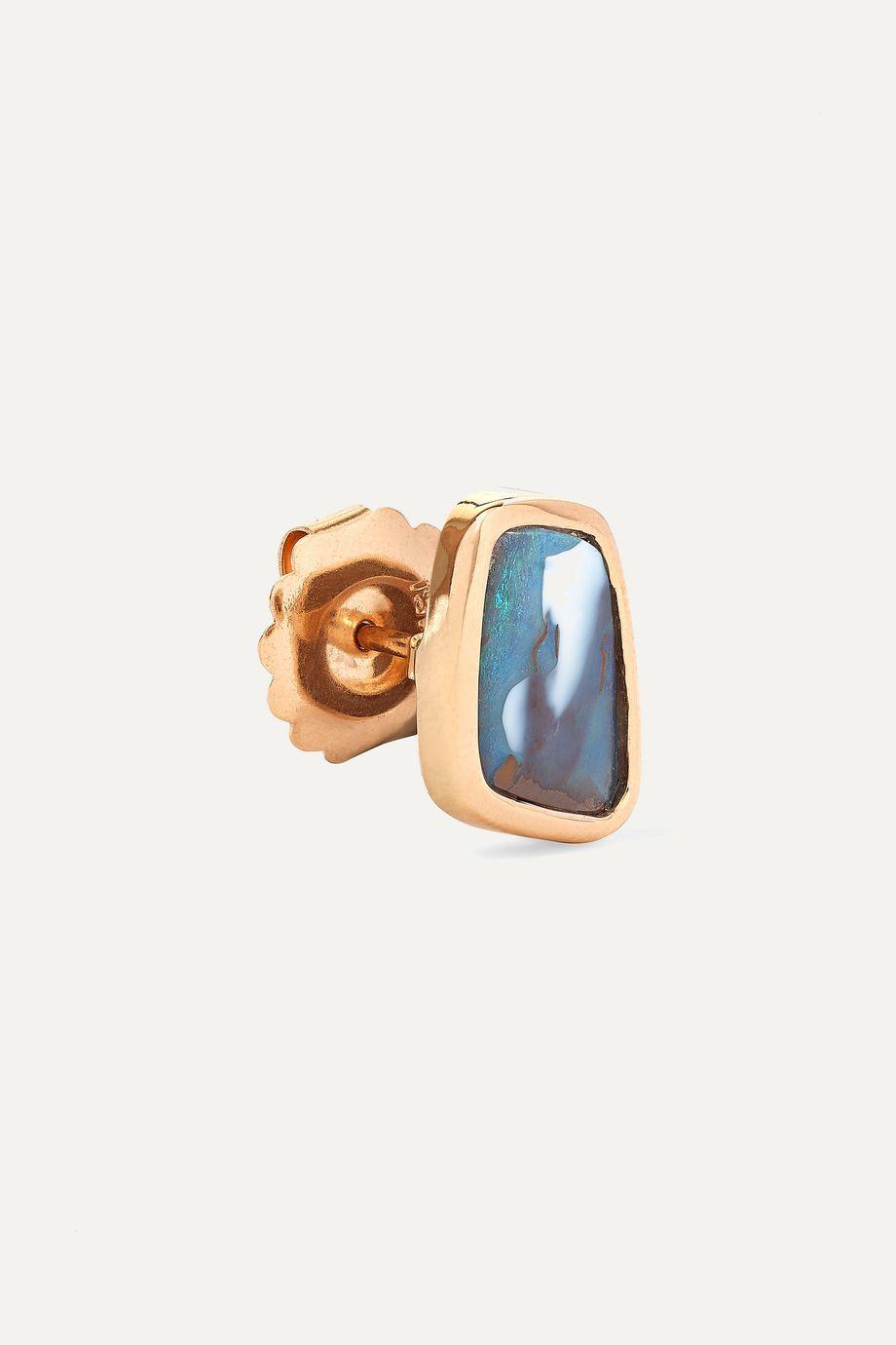 Kimberly McDonald + NET SUSTAIN 18-karat rose gold opal earrings