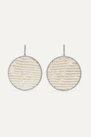 Kimberly McDonald + NET SUSTAIN 18-karat white gold, chalcedony and diamond earrings