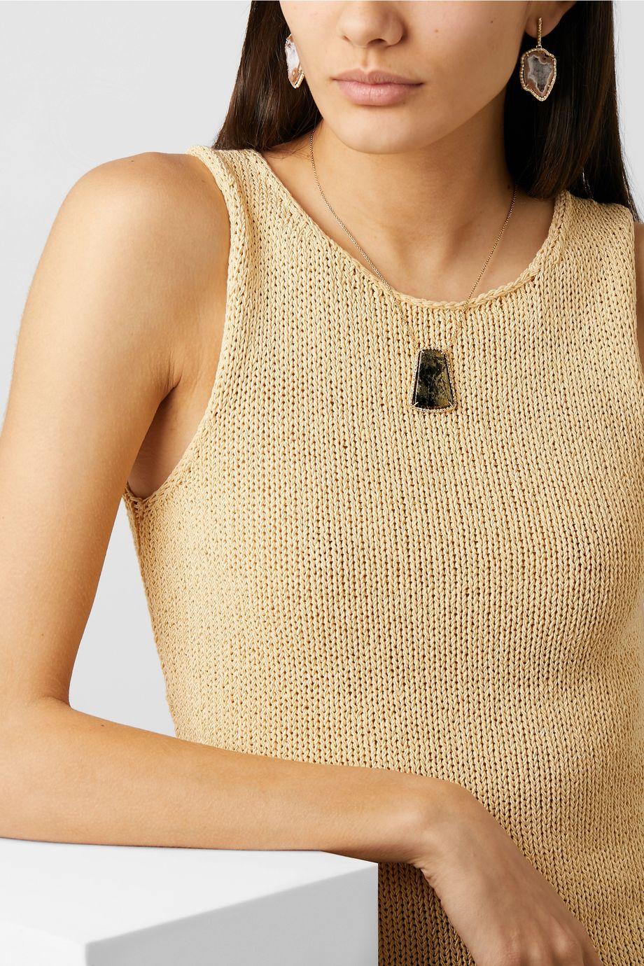 Kimberly McDonald + NET SUSTAIN 18-karat gold, apache gold and diamond necklace
