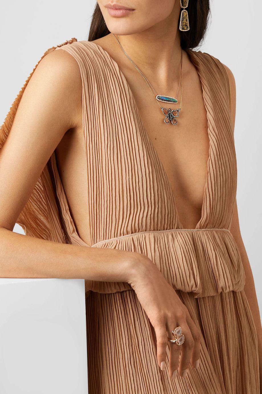 Kimberly McDonald + NET SUSTAIN 18-karat gold diamond necklace