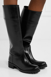 40 leather knee boots