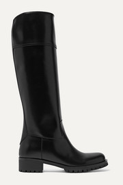 Prada 40 leather knee boots