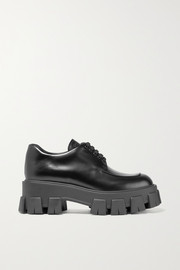 Prada Leather platform brogues