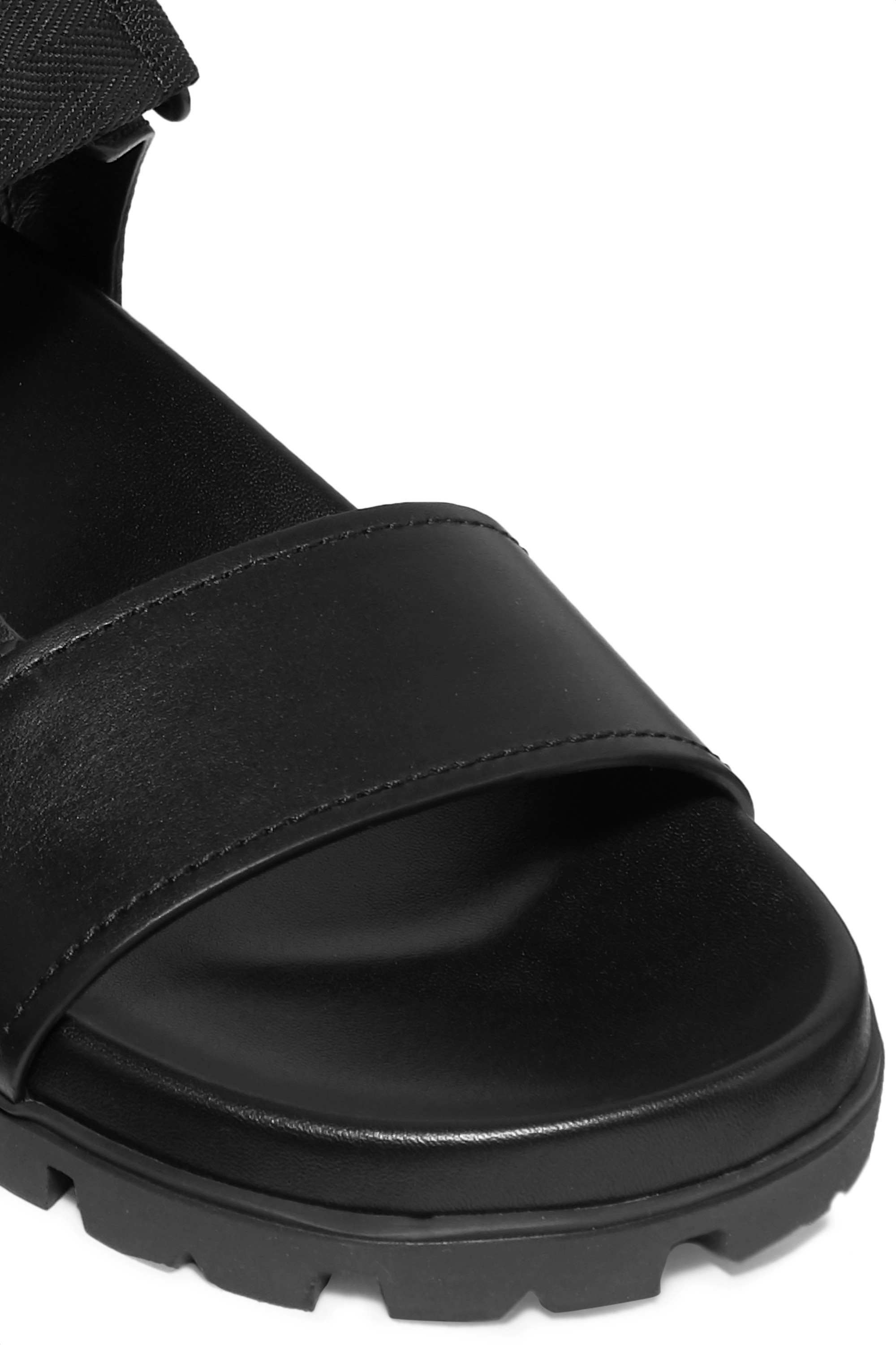 Prada Buckle-detailed leather sandals