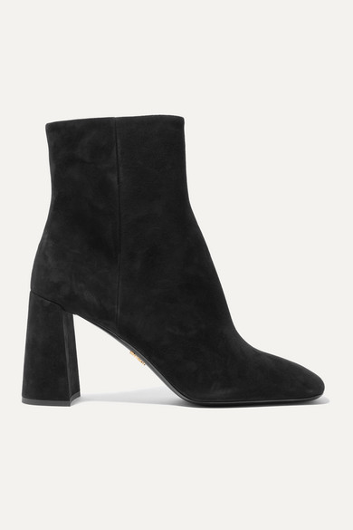 85 Suede Ankle Boots by Prada