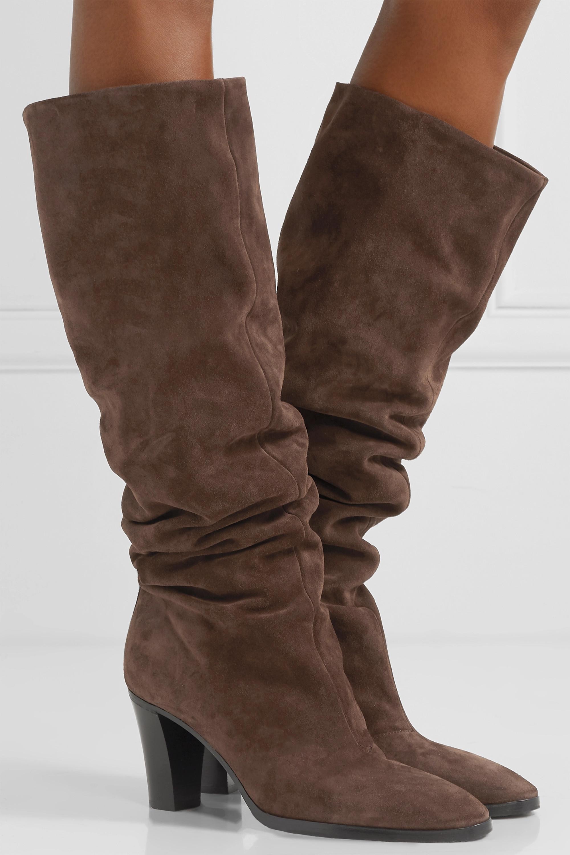 Brown Casper suede knee boots | Vince