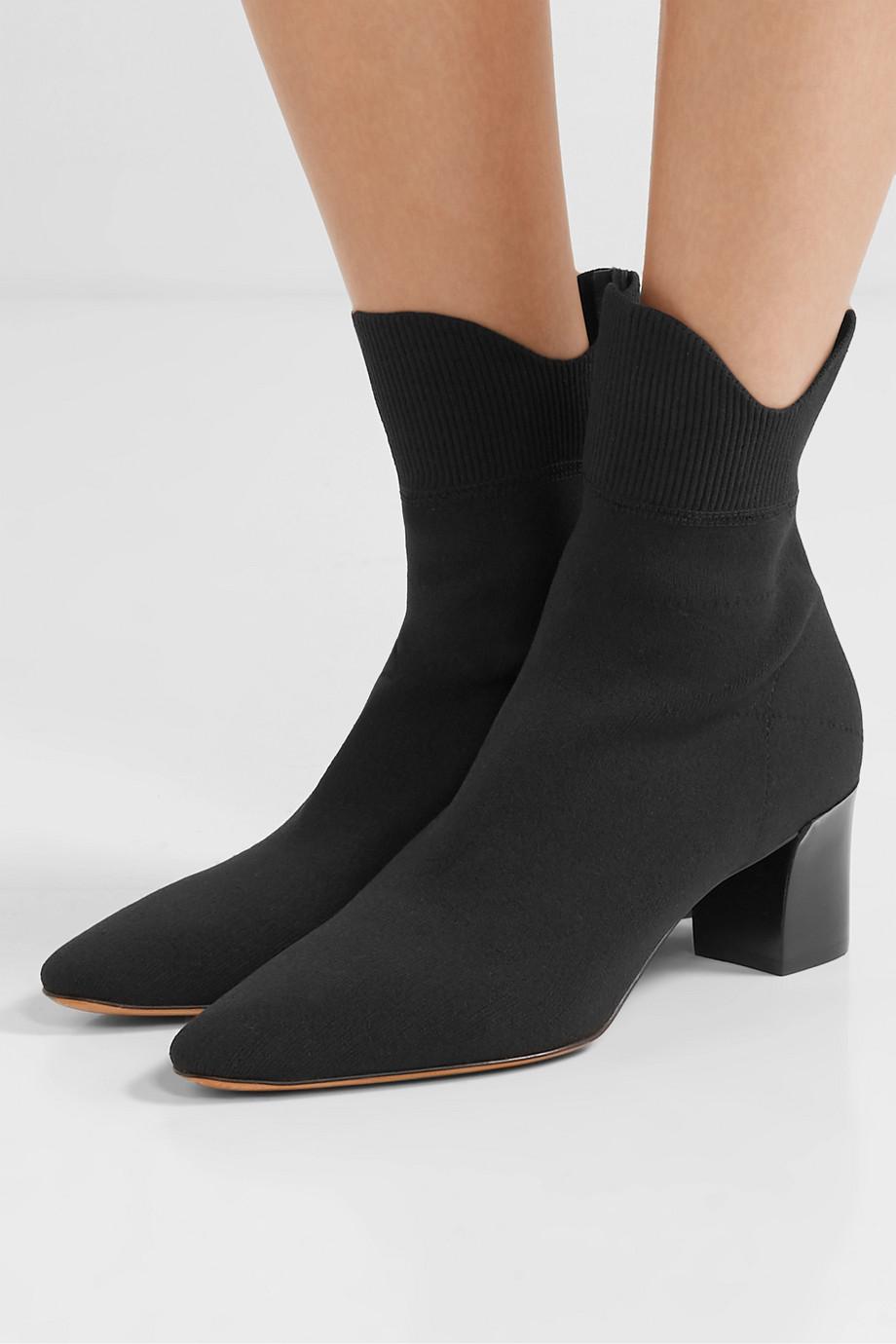 Vince Luna stretch-knit sock boots