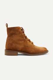 Vince Cabria-3 shearling-trimmed suede ankle boots