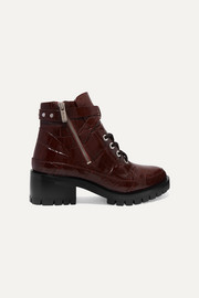 3.1 Phillip Lim Hayett croc-effect leather ankle boots